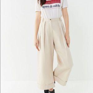Urban Outfitters Wide leg Beige Pants